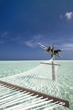 Hammock in Tropical Lagoon  Maldives  Indian Ocean  Asia