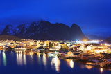 Reine Waterfront  Moskenesoy  Lofoten Islands  Norway  Scandinavia  Europe