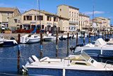 Tourist Boats in Marina in Marseillan Harbor  Herault  Languedoc-Roussillon Region  France  Europe