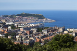 Scarborough from Olivers Mount  North Yorkshire  Yorkshire  England  United Kingdom  Europe