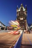Red Bus on Tower Bridge  London  England  United Kingdom  Europe