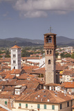 The Rooftops of the Historic Centre of Lucca  Tuscany  Italy  Europe