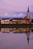 Yonne Riverbanks  Sunset  Auxerre  Yonne  Bourgogne (Burgundy)  France  Europe