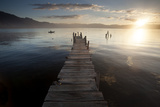 Fisherman  Lago Atitlan  Guatemala  Central America
