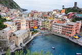 High Angle View of Vernazza  Cinque Terre  UNESCO World Heritage Site  Liguria  Italy  Europe