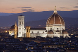 Duomo at Night from Piazza Michelangelo  Florencetuscany  Italy  Europe