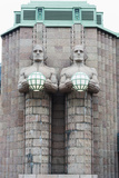 Art Nouveau Statues Designed by Emil Wikstrom at Rautatieasema Train Station