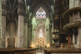 Interior of Milan Cathedral  Piazza Duomo  Milan  Lombardy  Italy  Europe