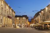 Piazza Arringo at Dusk  Ascoli Piceno  Le Marche  Italy  Europe