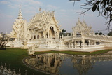 The White Temple (Wat Rong Khun)  Ban Rong Khun  Chiang Mai  Thailand  Southeast Asia  Asia