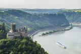 Castle Katz and the Lorelei Above the River Rhine  St Goarshausen  Rhine Gorgegermany  Europe