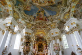 The Weiskirche (White Church)  UNESCO World Heritage Site  Near Fussen  Bavaria  Germany  Europe