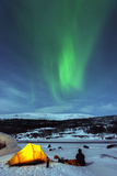 Aurora Borealis (Northern Lights) and Winter Camping on Kungsleden (The Kings Trail) Hiking Trail