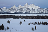 Teton Range at Dawn in the Winter