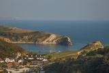 Lulworth Cove  Jurassic Coast  UNESCO World Heritage Site  Dorset  England  United Kingdom  Europe