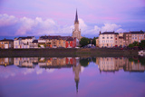 Yonne Riverbanks at Sunset  Auxerre  Yonne  Bourgogne (Burgundy)  France  Europe