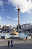 Trafalgar Square with Nelson's Column and Fountain  London  England  United Kingdom  Europe