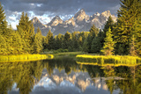 Water Reflection of the Teton Range