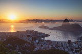 View of Sugarloaf Mountain and Botafogo Bay at Dawn  Rio De Janeiro  Brazil  South America