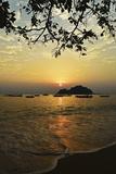 Sunset at Nipah Bay and Coral Island  Pulau Pangkor (Pangkor Island)  Perak  Malaysia  Asia