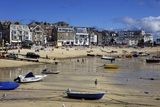 Boats in St Ives Harbour at Low Tide  St Ives  Cornwall  England  United Kingdom  Europe