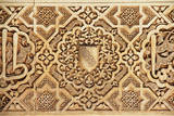 Interior of Alhambra Palace  Granada  Spain