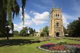 The Bell Tower and St Lawrence's Church in Abbey Park  Evesham  Worcestershire  England