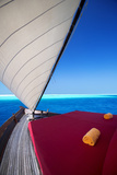 Sailing in Traditional Dhoni  Maldives  Indian Ocean  Asia