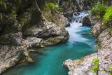 Tolminka River  Tolmin Gorges  Triglav National Park (Triglavski Narodni Park)  Slovenia  Europe