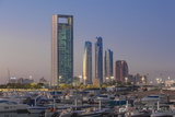 View of Marina and City Skyline  Abu Dhabi  United Arab Emirates  Middle East