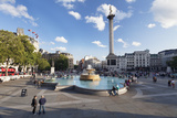 Trafalgar Square with Nelson's Column and Fountain  London  England