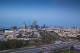 View of City Skyline  Abu Dhabi  United Arab Emirates  Middle East