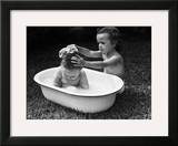 Baby Siblings Taking a Bath