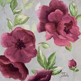 Gray & Plum Florals I