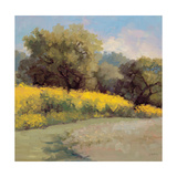 Plein Air Lavender and Yellow