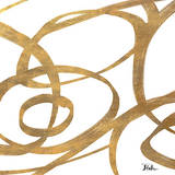 Golden Swirls Square I