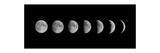 Moon Phases Reproduction d'art par Oriontrail2