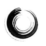 Black Calligraphic Brush Reproduction d'art par Oriontrail2
