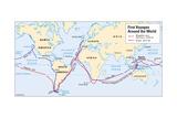 Map of Magellan's and Drake's Voyages
