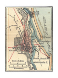Map of St Augustine  Florida