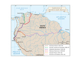 Map of the Explorations of Northern South America