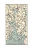 Map of Kristianiafjord  Kristiania