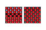 A Checkerboard  or Draughtboard  Set for Play