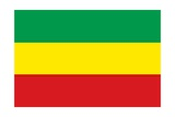 Historical Flag of Ethiopia  a Landlocked Country on the Horn of Africa  from 1991 to 1996