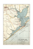 Map of Galveston Bay  Houston and Vicinity