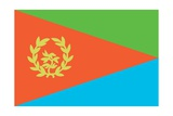 Historical Flag of Eritrea  a Country on the Horn of Africa  from 1993 to 1995