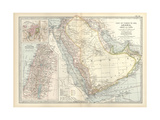 Map of Arabia with Part of Turkey and Oman