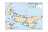 Physical Map of Prince Edward Island