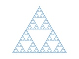 A Sierpinski Gasket Is Made by Dividing an Equilateral Triangle into Four