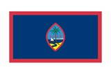 Flag of Guam  an Island Territory of the United States in the North Pacific Ocean